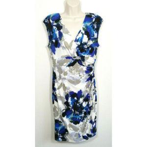 LAUREN RALPH LAUREN Faux Wrap Sheath Dress 2687E1